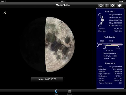 MoonPhase app