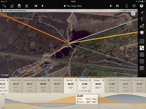The Photographer's Ephemeris app