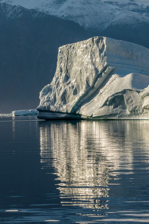 Iceberg in morning light