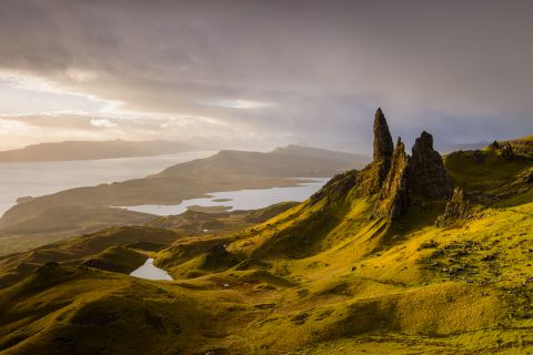 Old Man of Storr bij zonsopgang