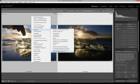 Openen als lagen in Photoshop
